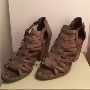Rampage Sandal Booties Size 9